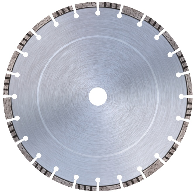Combination diamond cutting disk - ASBE -  With core protection segments